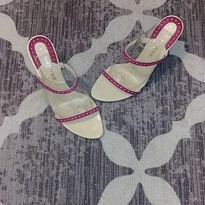 Burberry Raspberry Pink Strappy Heel Sanda…
